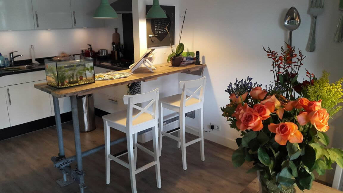 Steigerhout Bar Keuken : Steigerhouten meubelen amersfoort thijs aannemersbedrijf